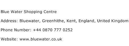 Blue Water Shopping Centre Address Contact Number
