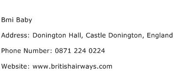 Bmi Baby Address Contact Number