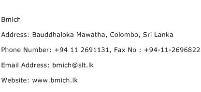Bmich Address Contact Number