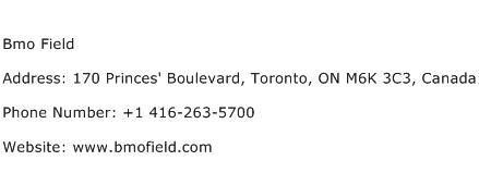 Bmo Field Address Contact Number