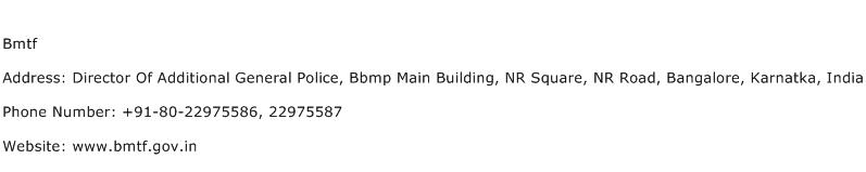 Bmtf Address Contact Number