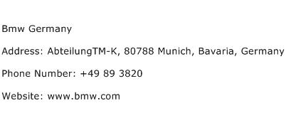 Bmw Germany Address Contact Number