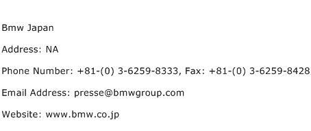 Bmw Japan Address Contact Number