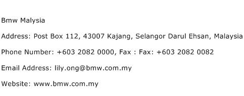 Bmw Malysia Address Contact Number