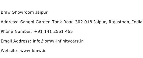 Bmw Showroom Jaipur Address Contact Number