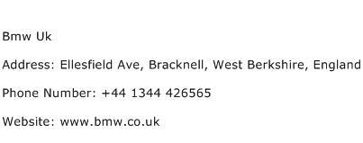 Bmw Uk Address Contact Number
