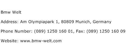 Bmw Welt Address Contact Number
