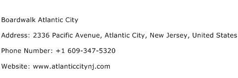 Boardwalk Atlantic City Address Contact Number