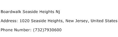 Boardwalk Seaside Heights Nj Address Contact Number