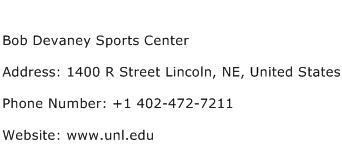 Bob Devaney Sports Center Address Contact Number
