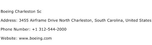 Boeing Charleston Sc Address Contact Number