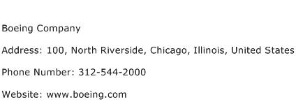 Boeing Company Address Contact Number
