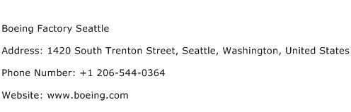 Boeing Factory Seattle Address Contact Number