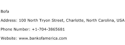 Bofa Address Contact Number