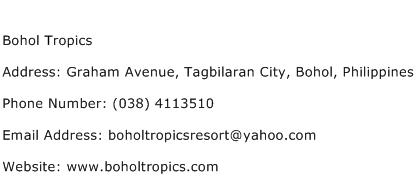 Bohol Tropics Address Contact Number