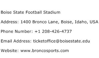 Boise State Football Stadium Address Contact Number