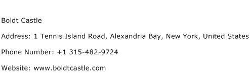 Boldt Castle Address Contact Number