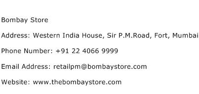 Bombay Store Address Contact Number