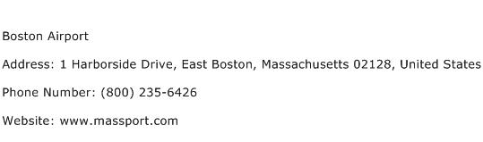 Boston Airport Address Contact Number