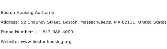 Boston Housing Authority Address Contact Number