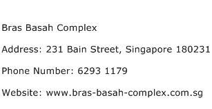 Bras Basah Complex Address Contact Number