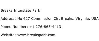 Breaks Interstate Park Address Contact Number