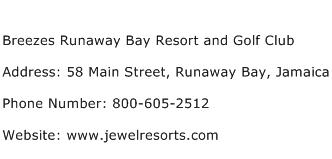 Breezes Runaway Bay Resort and Golf Club Address Contact Number