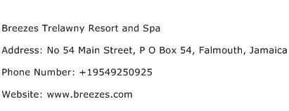 Breezes Trelawny Resort and Spa Address Contact Number