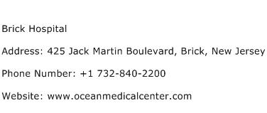 Brick Hospital Address Contact Number