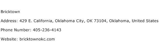Bricktown Address Contact Number