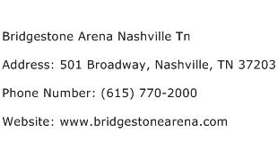 Bridgestone Arena Nashville Tn Address Contact Number