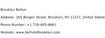 Brooklyn Bethel Address Contact Number