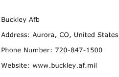 Buckley Afb Address Contact Number
