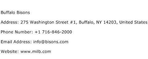 Buffalo Bisons Address Contact Number