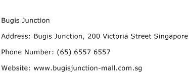 Bugis Junction Address Contact Number