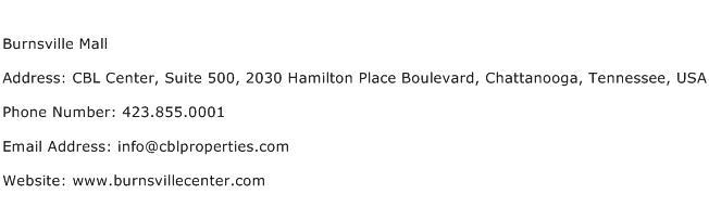 Burnsville Mall Address Contact Number
