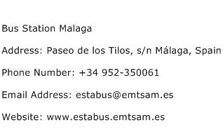 Bus Station Malaga Address Contact Number