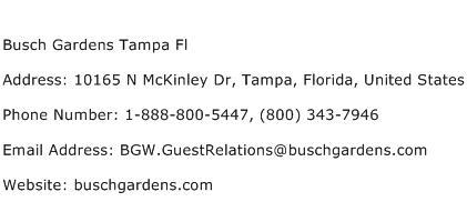 Busch Gardens Tampa Fl Address Contact Number Of Busch Gardens Tampa Fl