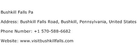 Bushkill Falls Pa Address Contact Number