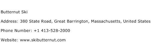 Butternut Ski Address Contact Number