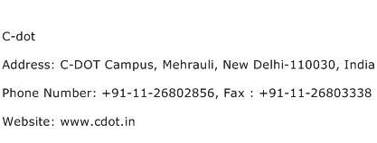 C dot Address Contact Number