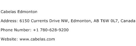 Cabelas Edmonton Address Contact Number