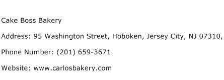 Cake Boss Bakery Address Contact Number