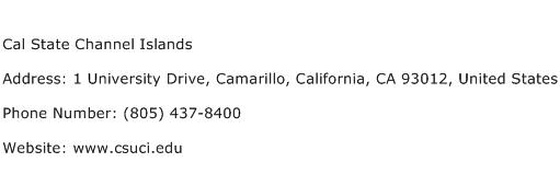Cal State Channel Islands Address Contact Number