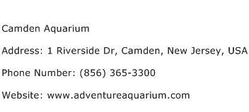 Camden Aquarium Address Contact Number