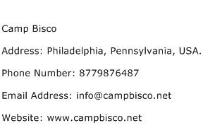 Camp Bisco Address Contact Number