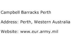 Campbell Barracks Perth Address Contact Number