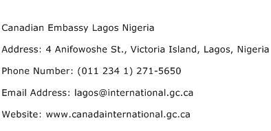 Canadian Embassy Lagos Nigeria Address Contact Number