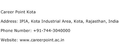 Career Point Kota Address Contact Number