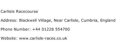 Carlisle Racecourse Address Contact Number